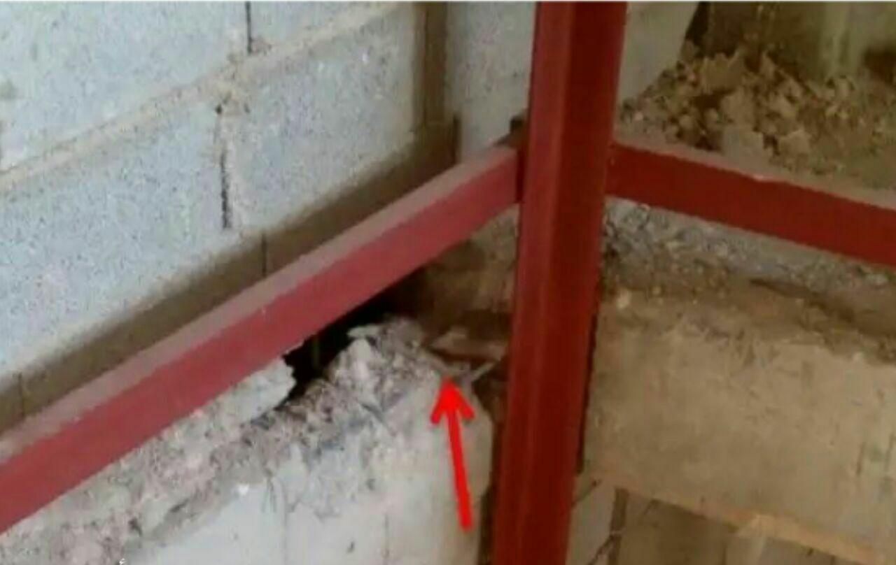 تخریب کاور تیر برای اتصال اسکلت آسانسور