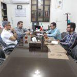 جلسه مشترک مدیر دفتر نمایندگی و مشاورین با جناب آقای محمدیان مسئول امور ورزشی شرکت زغال سنگ و جناب آقای مهندس لعل