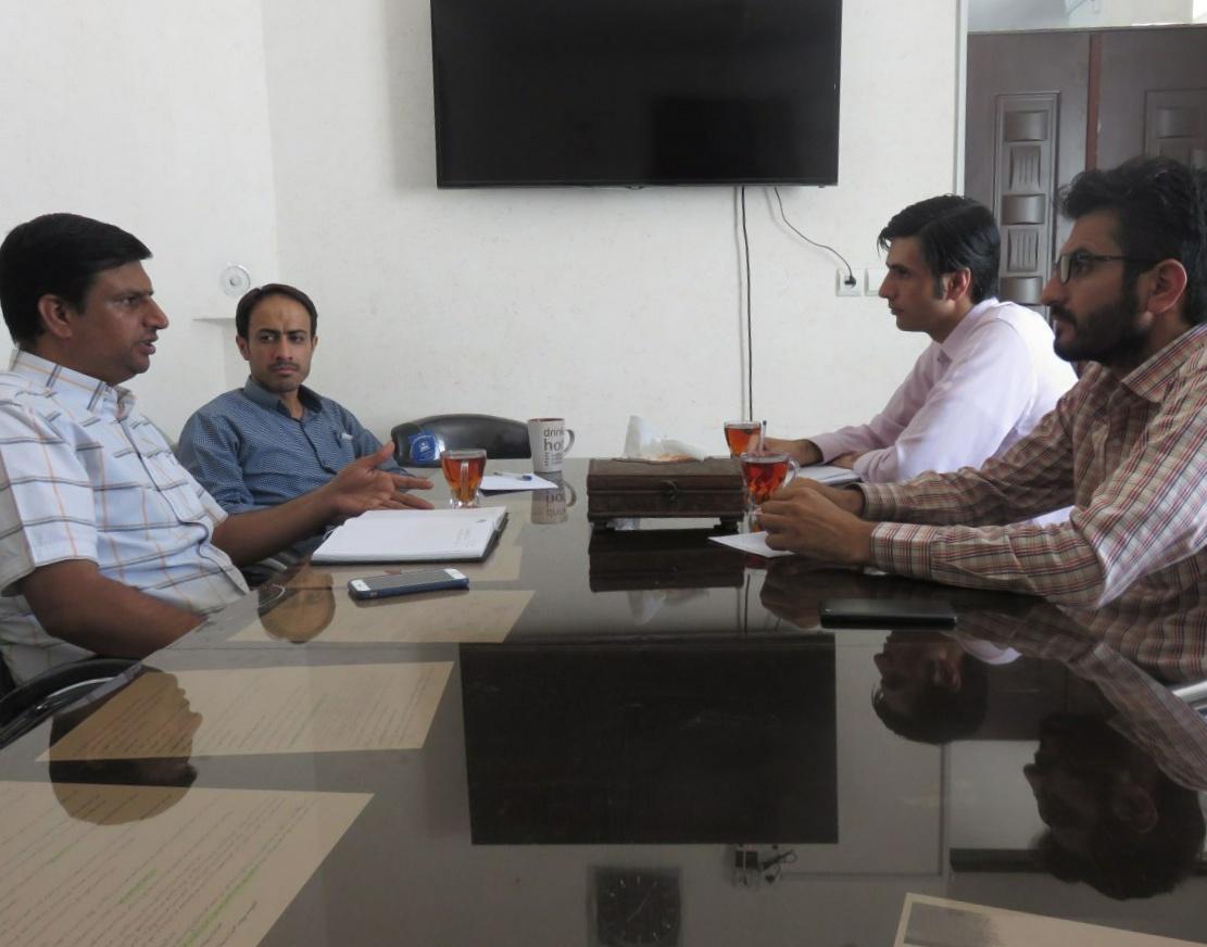 نشست مشترک مدیر دفتر نمایندگی با جناب آقای مهندس سیدابوالفضل علوی طبسی