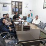 جلسه مشترک مدیر دفتر نمایندگی و مشاورین با مهندس محمدنژاد مدیر نرم افزار گزارش نویسی و سرکار خانم شفیعیان از شهرداری